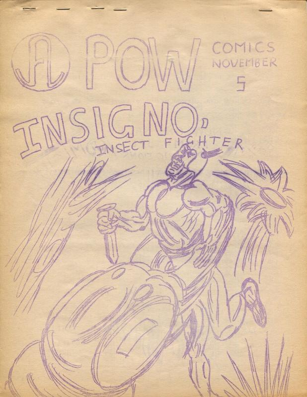 Pow #5 1966-Tony Rutherford-amateur comics-Insignio-Insect Fighter-FN