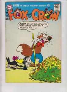 Fox and the Crow #44 FN- october 1957 - silver age anthropomorphics funny animal
