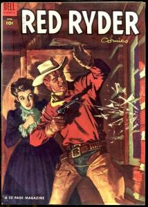 RED RYDER COMICS #129 GREAT WESTERN COVER-1953 - DELL VF-
