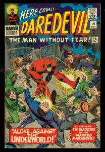 DAREDEVIL #19 1966-MARVEL COMICS- GLADIATOR- FN