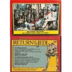 1983 Topps RETURN OF THE JEDI - THE FOREST FIGHTERS #107