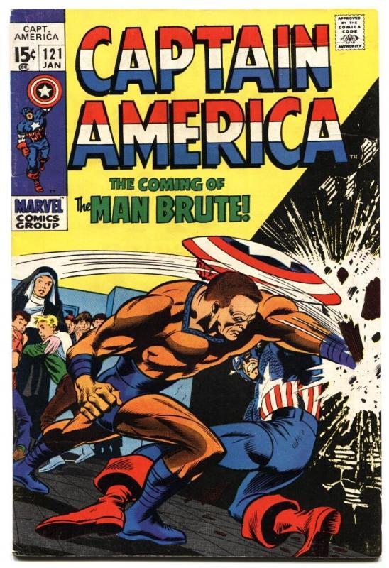 Captain America #121 comic book 1970- Gene Colan- Nick Fury- Marvel- VG/FN