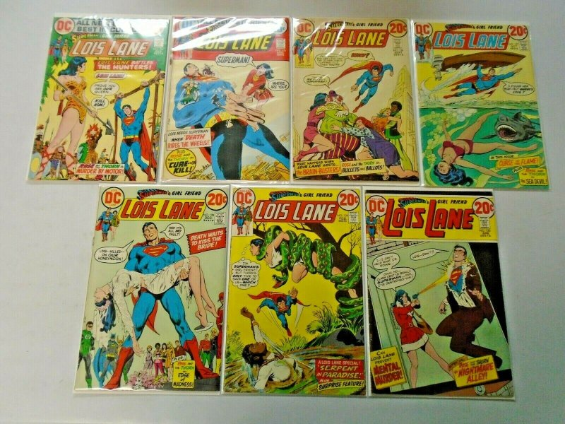 Bronze Age Lois Lane Comic Lot 20¢ Covers From #124-137 14 Diff 4.0 VG (1972-74)