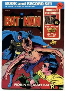 BATMAN BOOK AND RECORD SET-1976-MAN-BAT-Neal Adams