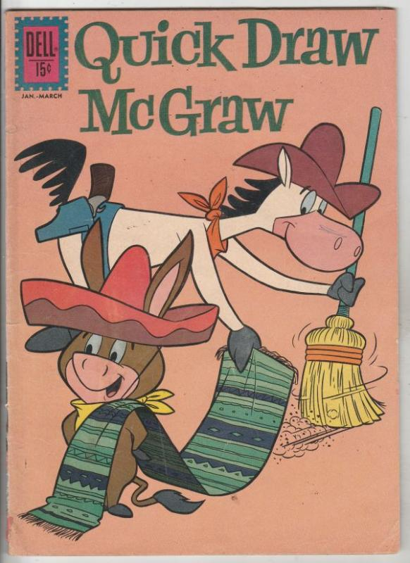 Quick Draw McGraw #9 (Jan-62) VG Affordable-Grade Quick Draw McGraw, Baba Looey