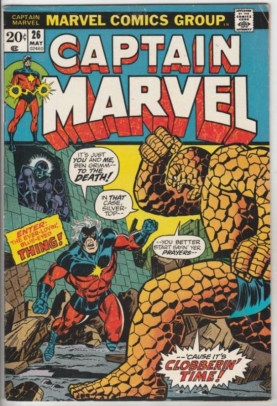 Captain Marvel #26 (May-73) VF High-Grade Captain Marvel (Rick Jones)