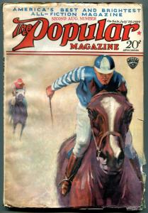 Popular Pulp Magazine 2nd August 1929- Horse Racing cover