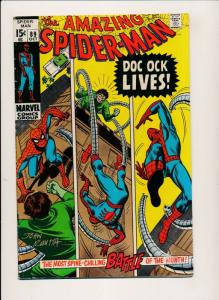 the AMAZING SPIDER-MAN #89 ~ w/ John Romita Signed 1970 ~ VG/FN (PJ31)