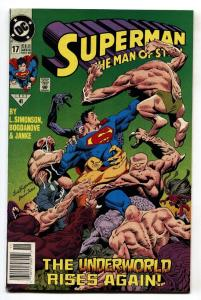 SUPERMAN THE MAN OF STEEL #17 comic book 1st DOOMSDAY CAMEO-DC