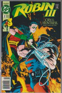 ROBIN 3 ISSUE#2 - 1992 - BAGGED AND BOARDED - BATMAN FAMILY