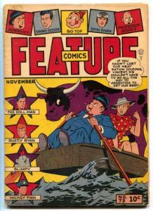 Feature Comics #73 1943- DOLL MAN- Gill Fox cover G/VG