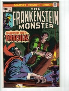 Frankenstein (The Monster Of…) #8 VG marvel comics 1973 - stan lee - dracula