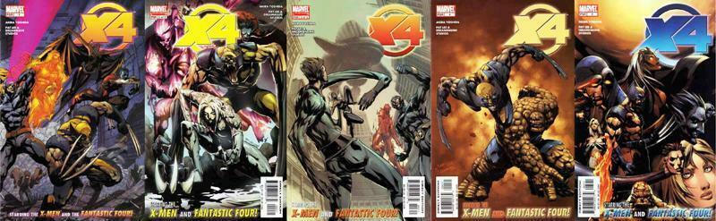 X4 X-MEN FANTASTIC FOUR (2005) 1-5  COMPLETE!