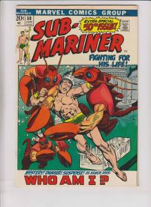 Sub-Mariner #50 VG+ bill everett - 1st appearance of namorita - bronze age 1972