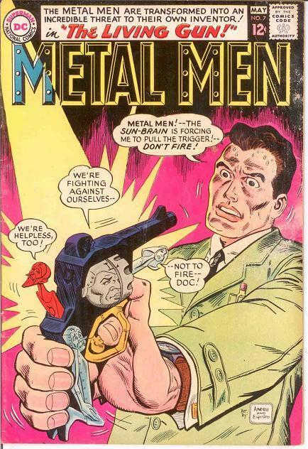 METAL MEN 7 VG-F  May 1964 COMICS BOOK
