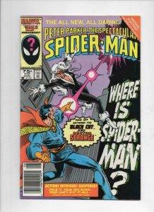 Peter Parker SPECTACULAR SPIDER-MAN #117 FN/VF, Dr Strange 1976 1986 Marvel, UPC
