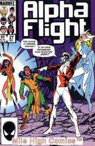 ALPHA FLIGHT (1983 Series)  #27 Very Fine Comics Book