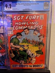 Sgt. Fury #54 (1968) CGC 9.2 - RARE!