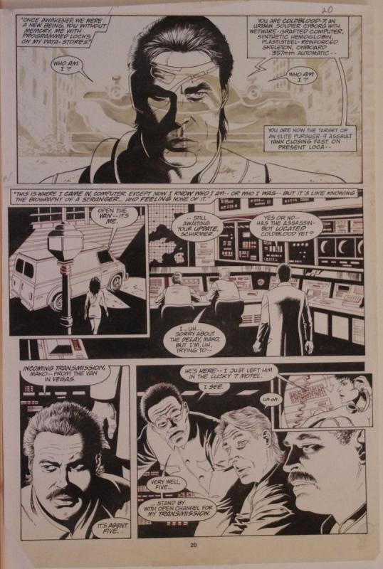 PAUL GULACY original art, MARVEL COMICS PRESENTS #31 pg 20,11x16, ColdBlood