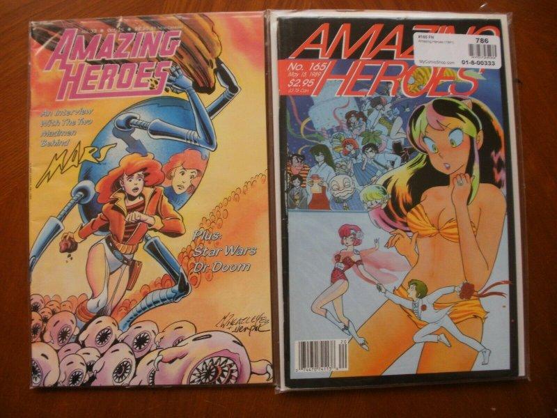 2 Comic: AMAZING HEROES #33 (1983) Star Wars Doom & #165 (1989) Rumiko Takahashi