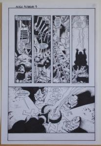 RICHARD CORBEN original art, ALIENS ALCHEMY #1 pg 9, Signed, 11x17, Incantation