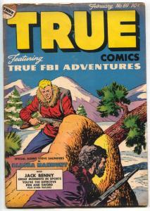 True Comics #69 1948- Jack Benny- Alaska Manhunt VG-