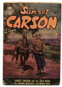 Sunset Carson #1 1951 Kit Carson First issue Golden Age Western