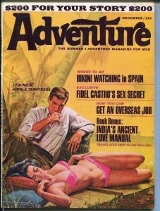 Adventure 12/1965-bikini babe-Vic prezio-cheesecake-FN+