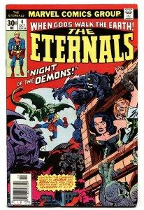 THE ETERNALS #4 2nd SERSI. Jack Kirby Comic Book Marvel 1976