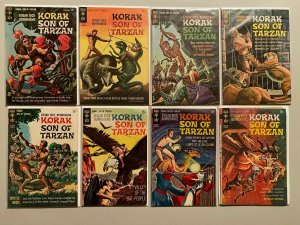 Silver Age Korak Son of Tarzan lot 13 different issues (Gold Key)
