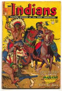 Indians #13 1952- Fiction House Western- Sitting Bull