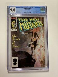 New Mutants 25 Cgc 9.8 White Pages Marvel X-men Copper Age