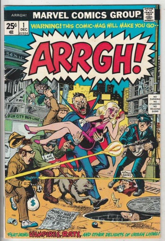 Arrgh #1 (Dec-74) VF+ High-Grade Dracula