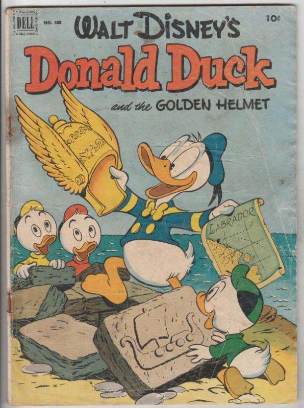 Four Color #408 (Aug-52) GD Affordable-Grade Donald Duck, Huey, Dewey, Louie