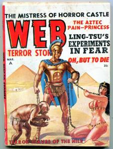 Web Terror Tales Pulp March 1963- weird Menace cover- Ling-Tsu VG-