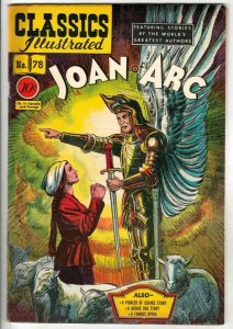 Classics Illustrated #78 (Dec-50) VF High-Grade Joan of Arc