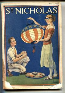 St. Nicholas 7/1925 U.S. FLAG cover -Mussolini-Aviation-Parachuting