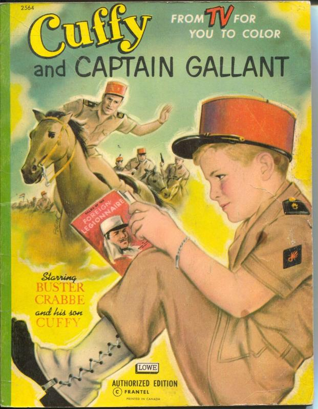 Cuffy and Captain Gallant Coloring Book #2564 1955-Buster Crabbe TV series-VG