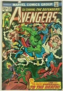 AVENGERS#118 VG/FN 1973 MARVEL BRONZE AGE COMICS