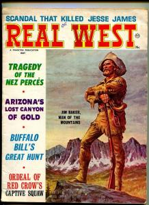 REAL WEST MAY 1965-CHARLTON-BUFFALO BILL-JESSE JAMES-VG