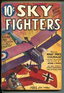 SKY FIGHTERS 11/1933-AIR WAR PULPS-WWI-CLASSIC-RARE-good minus