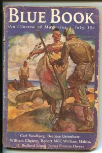 Blue Book  7/1936-McCall-Indian cover by Herbert Morton Stoops-Austin Briggs ...