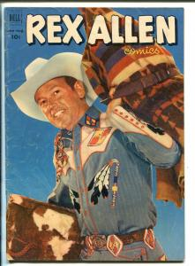 REX ALLEN #5-1952-DELL-PHOTO BACK AND FRONT COVER-B-WESTERN STAR-vg