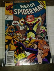 Web of spider-man # 59 1989 marvel  -cosmic spiderman +acts of vengeance