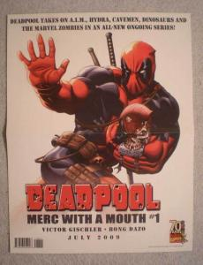DEADPOOL Promo Poster, Hulk, Thing, 10x13, 2009, Unused, more Promos in store