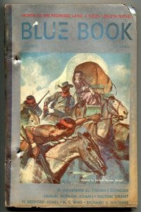 Blue Book Pulp January 1940- North to the Promised Land F/G