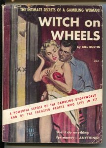 Uni-Books #66 1950's-Witch On Wheels-Bill Boltin-gambling-G/VG