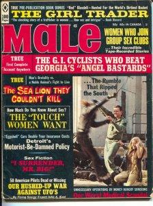 Male 2/1971-Atlas-UFO's--Gil Cohen-Samson Pollen-pulp thrills-cheesecake-VG