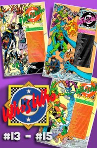 Krypto! Man-Bat! Metallo!  WHO'S WHO: DEFINITIVE DIRECTORY of the DCU #13 to #15