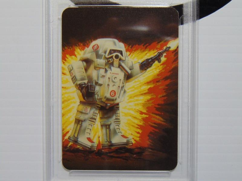 1986 Hasbro G.I. GI Joe Battle Armor SNAKE Cobra Series 1 Card 114 - Graded 8.5